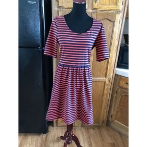 Old Navy Striped Skater Style Dress Large